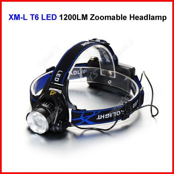 1200 Lumens CREE XM-L T6 LED Zoomable Headlamp Headlight Bicycle Bike Light 3Modes Wholesale<br><br>Aliexpress