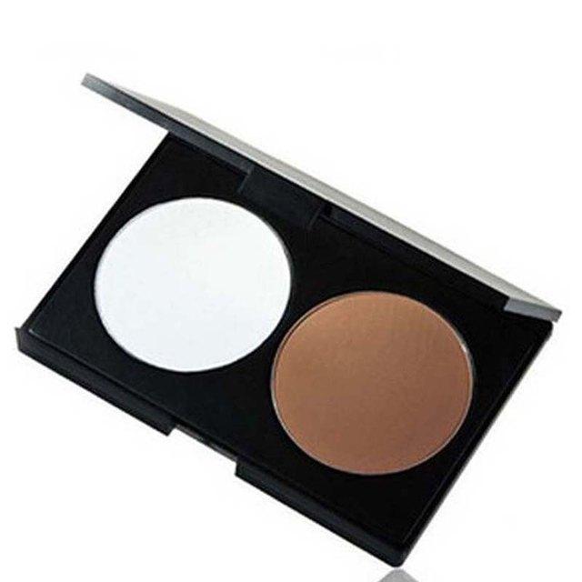 Hot 2 цветов контур палитра порошок пудра в тепло природного Concealar макияж на ...