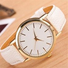 Hot Casual Watch For Lady Women Dress Watches Famous Brand Gold Plated Leather Strap Female Wristwatch
