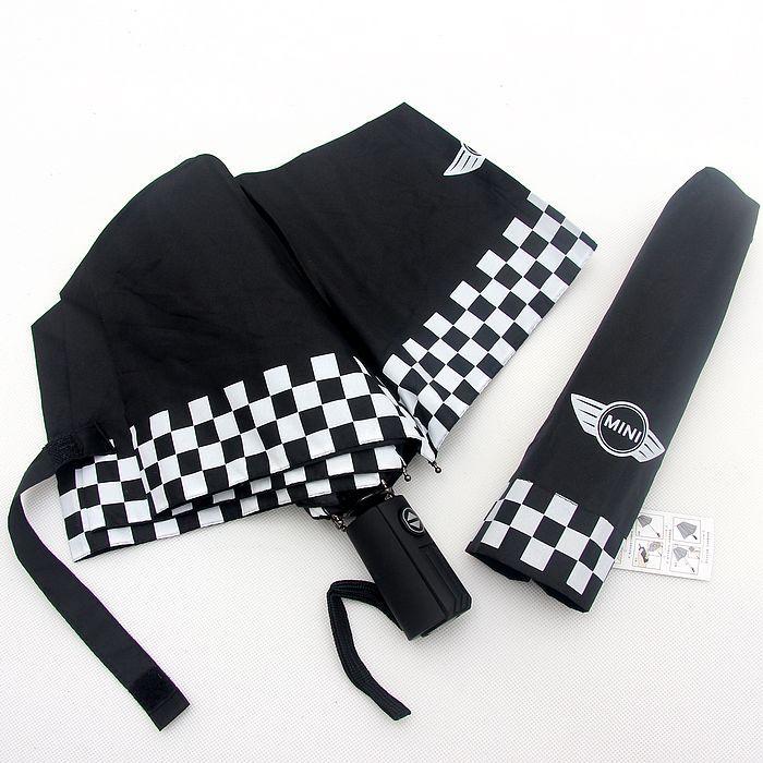 Folding Umbrella UV Protection fully checkered automatic sunny and rainy umbrella for Mini Cooper  roadster clubman countryman<br><br>Aliexpress