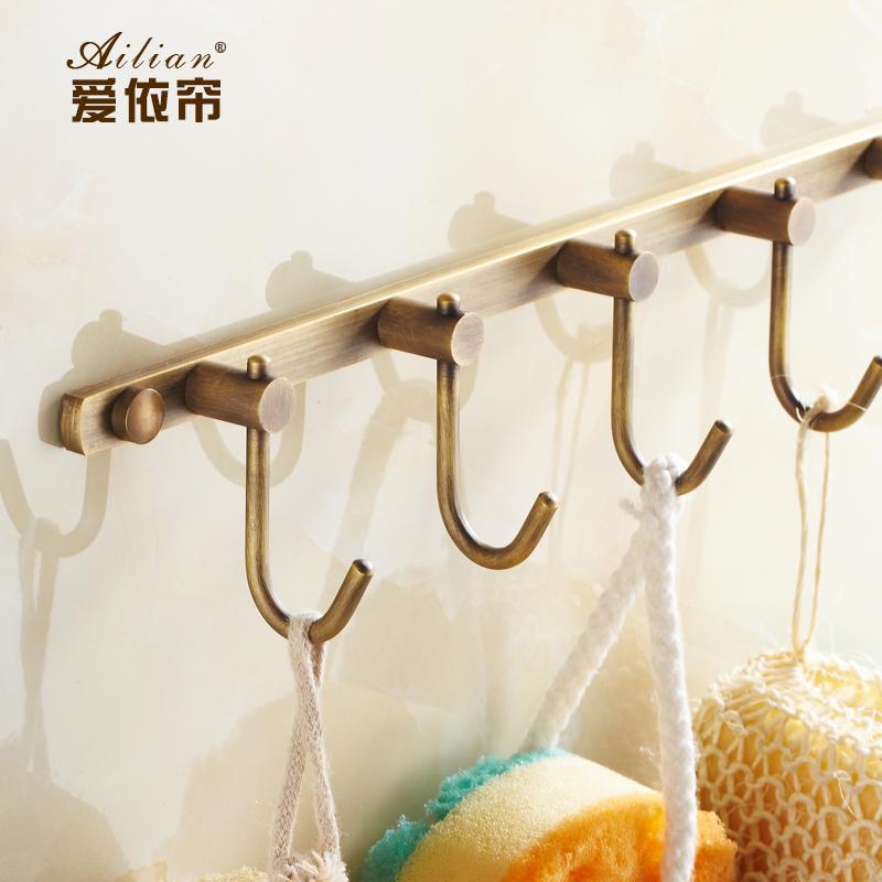 European luxury antique copper bathroom hook door hooks 100% copper Decorative Coat Hooks hanger vintage free shipping(China (Mainland))