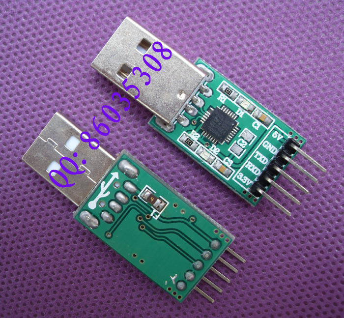 Free shipping 5PCS CP2102 chip STC Downloader upgrade tool to upgrade cable USB to TTL Brush line(China (Mainland))