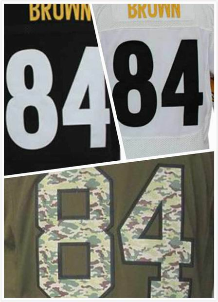 Cheap  Mens Antonio Brown Jersey #84 Black/White Salute To Service Stitched Elite/Game Football Sports Jerseys China Size S-4XL<br><br>Aliexpress