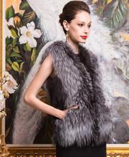 Thermal fox fur vest outerwear women's fashion fur coat(China (Mainland))