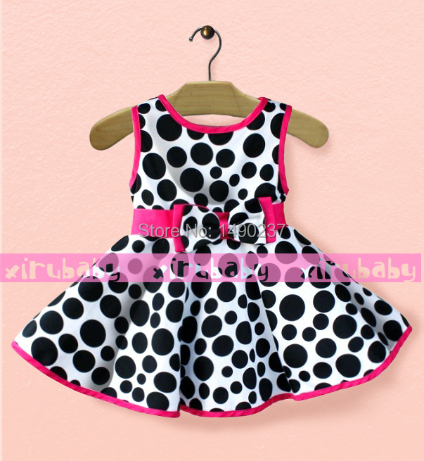 2014 explosion models Summer new girls leopard big circle princess dress baby - The king clothes 1 store