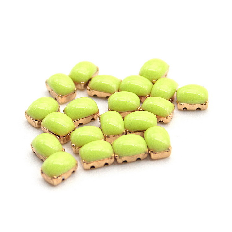 20Pcs/Lot 2015 HOT New Green Droplets Shape Nail Accessories DIY Manicure Alloy 3D Applique Art Nail Decorations for Women(China (Mainland))