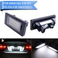 2pcs SMD3528 LED Number License Plate Lights For BMW E82 E88 E90 E92 E93 E39 E60