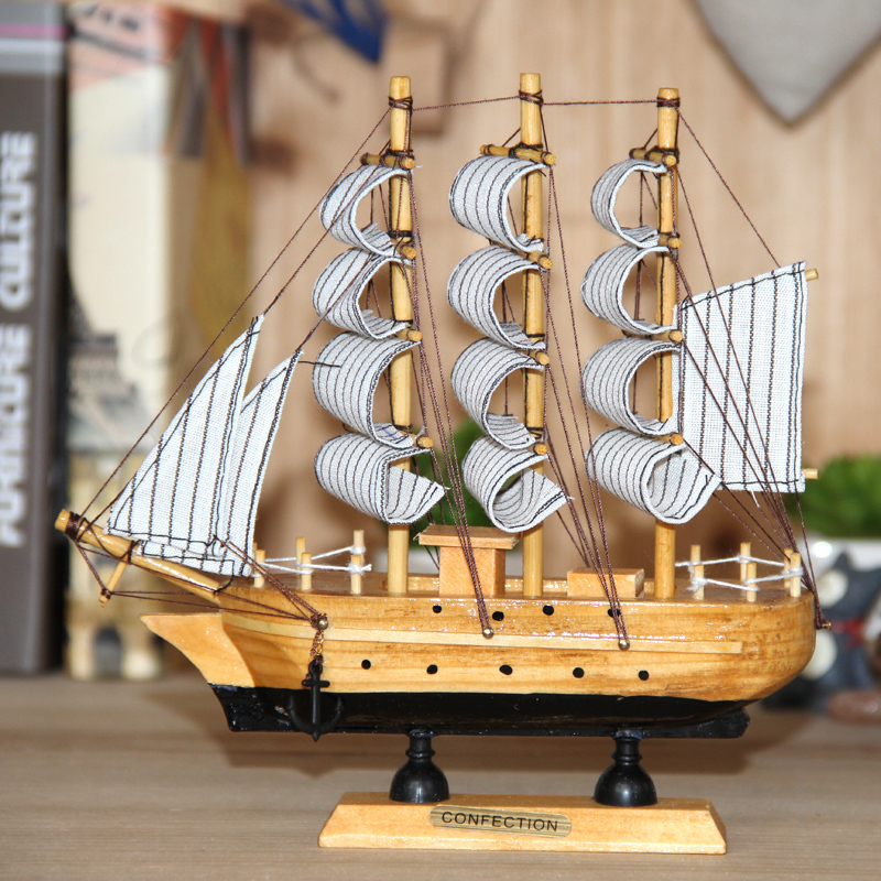 2016 Top Fashion New <font><b>Nautical</b></font> Europe <font><b>Home</b></font> Carved Pine <font><b>Home</b></font> <font><b>Decor</b></font> Crafts Sailing Boat Model Handmade Wooden Fashion <font><b>Home</b></font>