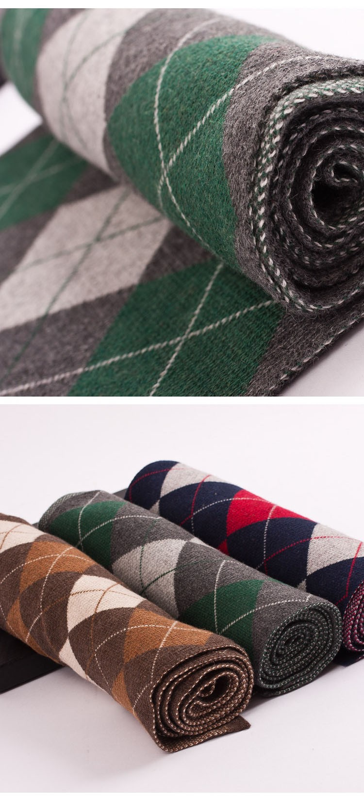 Hot  from india winter luxury Brand Big Size plaid scarf Men Long Neck Warm Cashmere Scarves Bufanda Wool scarf Knit Thicker