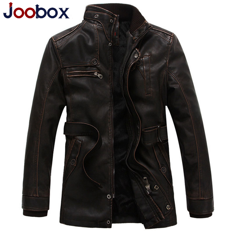 2016 New arrival leather jacket cashmere thick warm pilot leather jacket wool liner biker jacket PU winter jacket men (PY015)(China (Mainland))