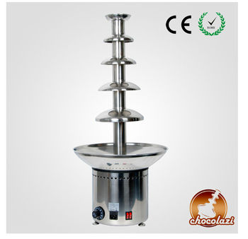 2015 CHOCOLAZI ANT-8086 Auger 5 tiers 304 stainless steel commercial cheap chocolate fountain (ANT-8086)