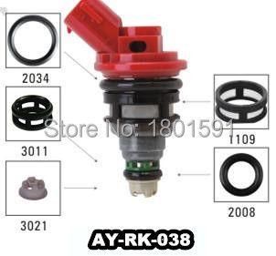 40pieces/set auto part fuel injector repair kit for Nissan oem 16600-1P102 viton o ring filter pintle cap AY-RK-038(China (Mainland))