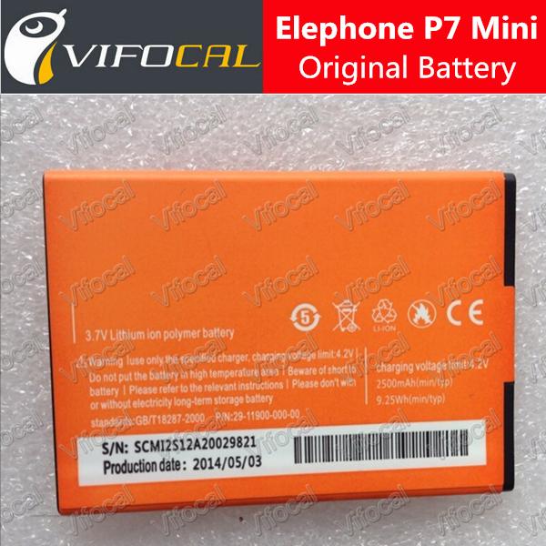elephone p7 mini battery In Stock 100% Original 2500Mah For elephone p7 mini MTK6582 Quad Core 5.0'' Smartphone + Free Ship