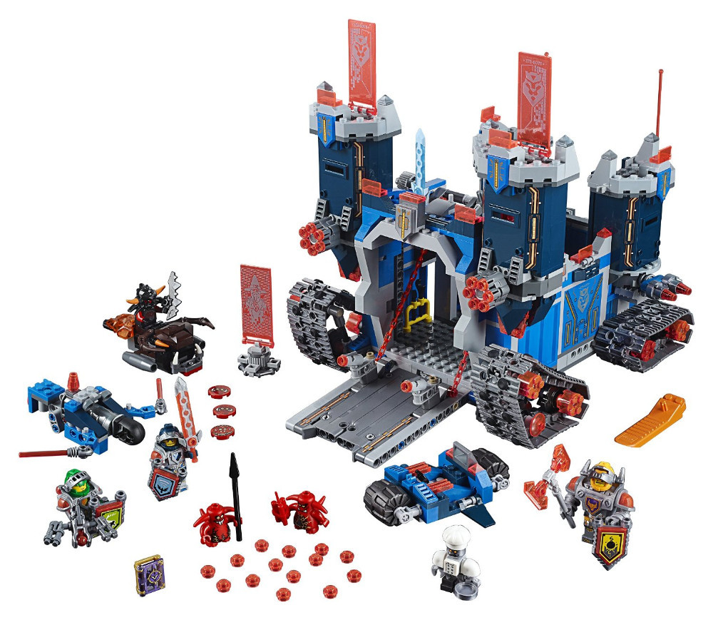 2016 LEPIN 1115Pcs Nexus Knights The Fortrex Castle Building Block Clay Aaron Fox Axl Minifigures Compatible with Legoelies(China (Mainland))
