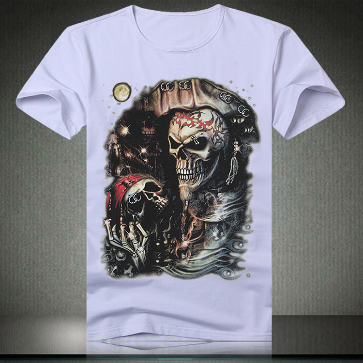 Buy t shirt men skull 3d printed man for Print t shirt cheap