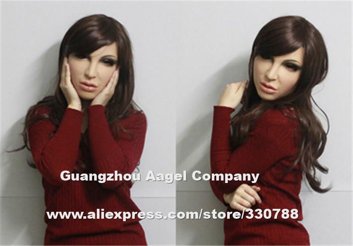 [SH-8] Top quality silicone female mask, bulk masquerade masks for men, human silicone masks christmas , face party masks(China (Mainland))