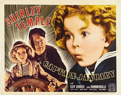 1221 CAPTAIN JANUARY MOVIE POSTER Shirley Temple VINTAGE 3 PRINT IMAGE PHOTO - wall sticker Home Decor poster(China (Mainland))
