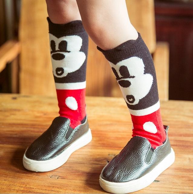 2015 розничная милые дети носки трикотажные счастливый мышь 3 D уши дети ноги теплые ...