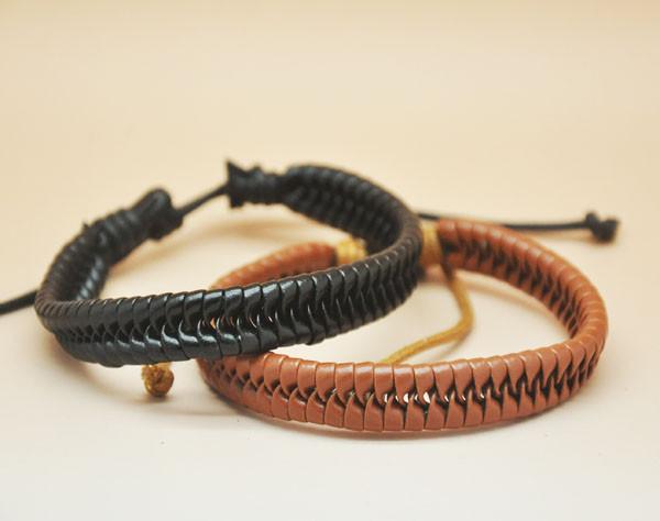 Прохладный люди девушку натуральная кожа регулируемая Braclets мужчины ювелирные изделия ручной работы высокое качество браслеты