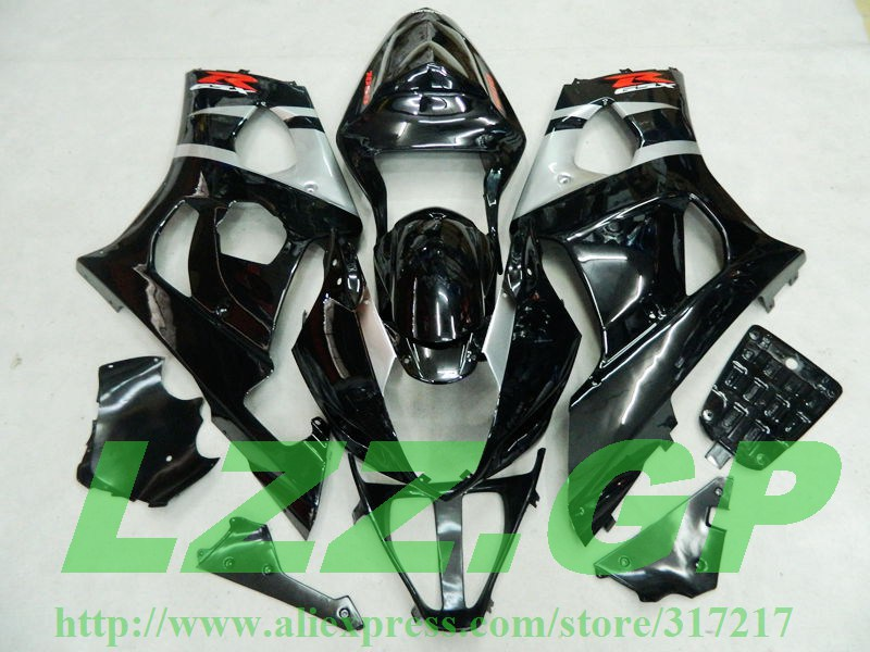 Injection For SUZUKI GSX-R1000 K3 03 04 Black GSX R1000 K3 GSXR 1000 2003 2004 GSXR1000 Fairing Kit(China (Mainland))