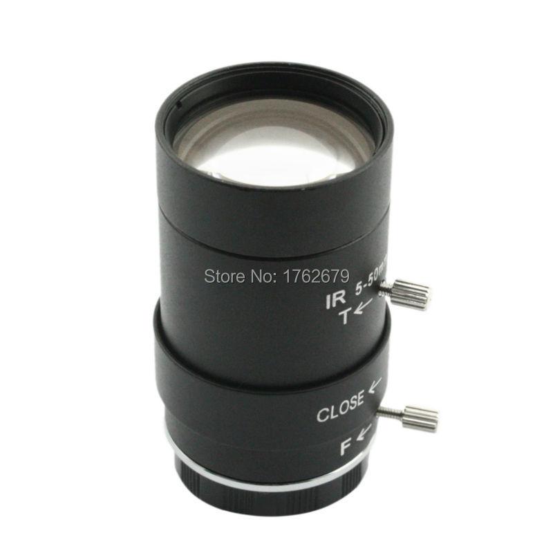 5-50mm Megapixel manual varifocal lens CMOS/ CCD 1/3 CCTV lens CS mount CCTV camera