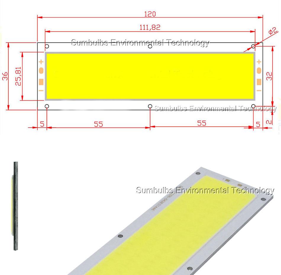 10w cob led strip light led chip lamp bulb LEDs dc 12V (1)