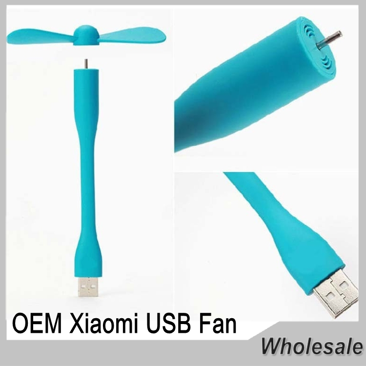 OEM Xiaomi USB Fan Flexible USB Portable Mini Fan For Power Bank&Notebook&Laptop&Computer Power-saving(China (Mainland))