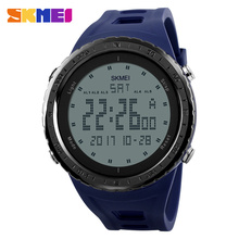 Buy SKMEI 1246 Men Sports Watches Countdown Chrono Double Time EL Light Digital Wristwatches 50M Water Resistant Relogio Masculino for $9.99 in AliExpress store