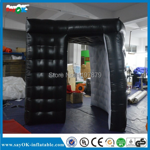 portable cheap attractive durable black inflatable lighting photo booth for sale(China (Mainland))