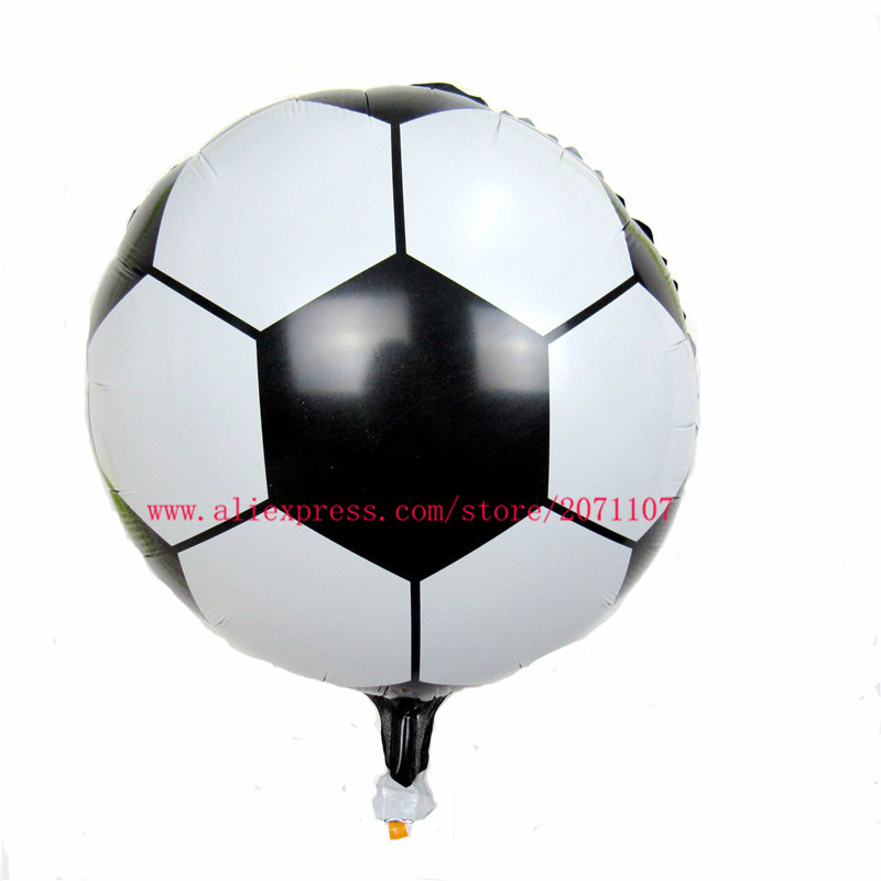 Lucky 50pcs/lot 18 inch Printing Foil Football Balloons Children's Classic Toys Birthday Party Decorations Globos Air Balloon(China (Mainland))