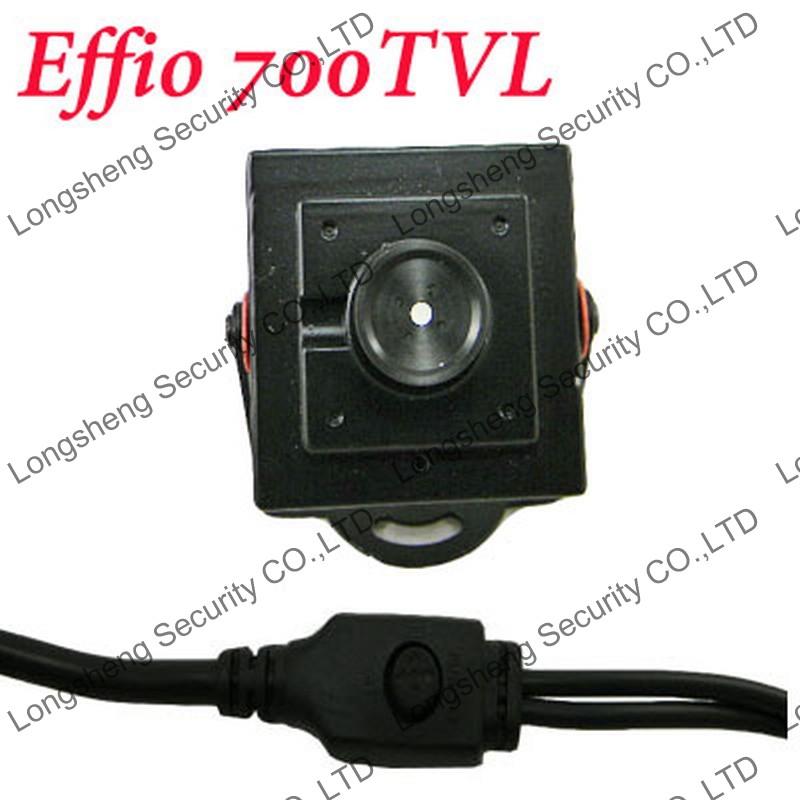 Mini HD 3.7mm Effio-E Sony 700TVL OSD Menu Security CCTV Surveillance camera(China (Mainland))
