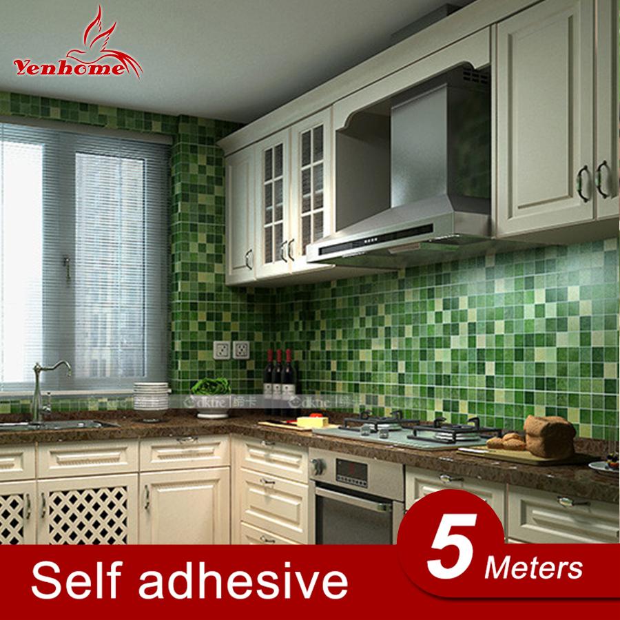 5Meters Lot Kitchen Vinyl Wall Stickers Waterproof Self Adhesive Bathroom Wall Decals Home Decor Mosaic. Online Get Cheap Adhesive Vinyl Wall Tiles Mosaic  Aliexpress com