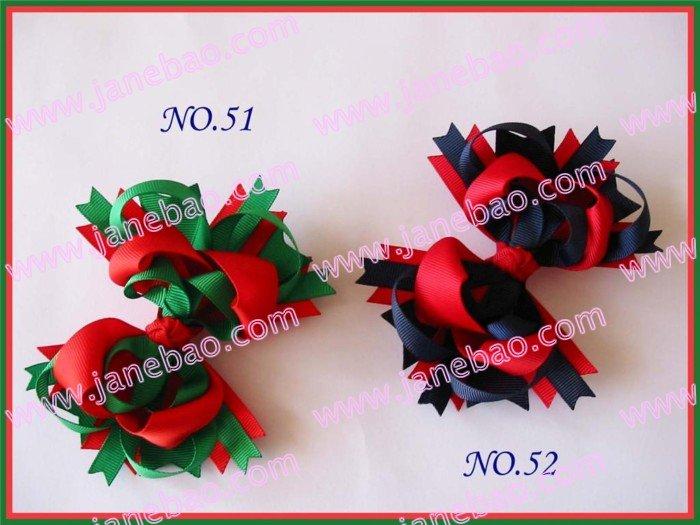 free shipping 500pcs Boutique hair bows 4.5''  Bou...