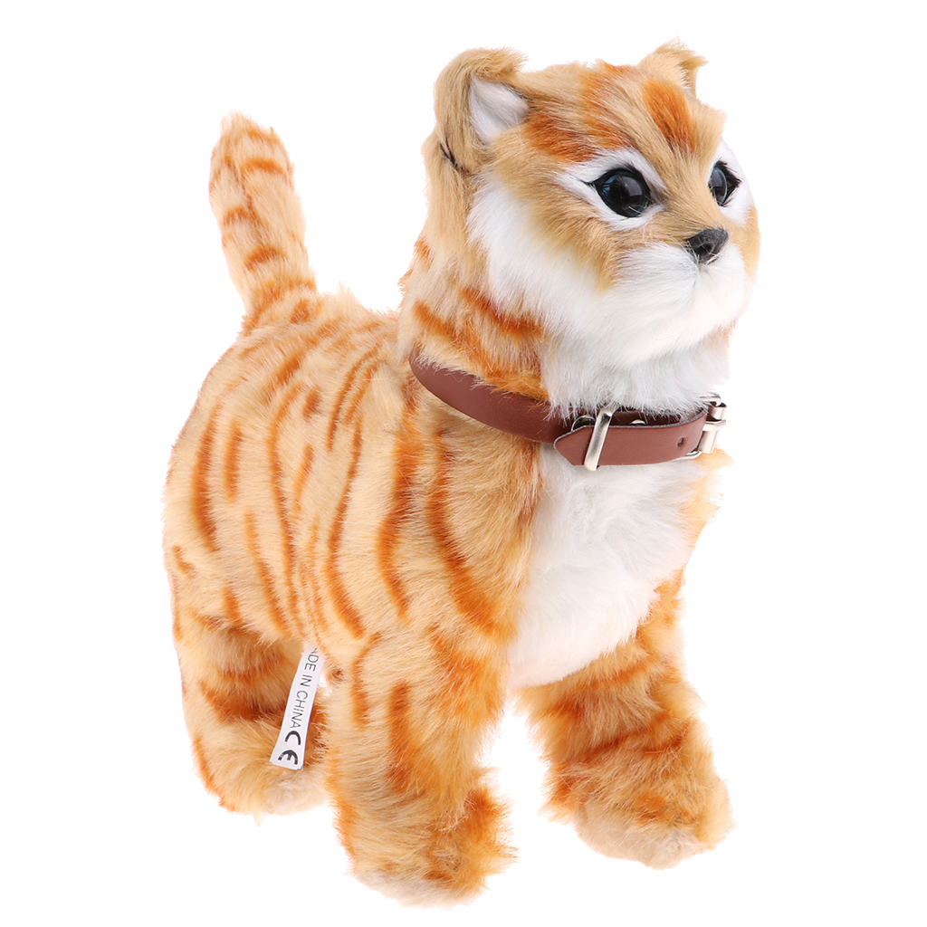 Electronic Plush Cat Toys Stuffed Toys Walking Cat Meow Toys Kids Children Animal Toy Birthday Gift Home Office Decoration