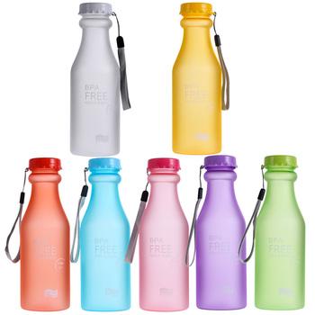 New Hot Sale Portable Leak-proof Bike Sports Unbreakable 550ml Plastic Water Bottle Free Shipping V1NF