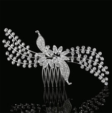 Buy MHS.SUN European Design Leaf Bridal Tiara Wedding Hair Accessories Crystal Bride Hair Comb Wedding Hair Jewelry 1PC HX006 for $7.51 in AliExpress store