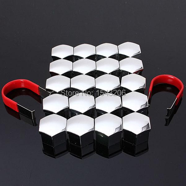 20 шт./компл. 19 мм автомобиля пластмассовые крышки болты головой покрывает орехи литые диски защитные хром универсальный