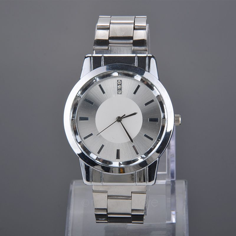 Lovers Watches Crystal Inlaid Full Steel Quartz Watch Women Men Simple Casual Wristwatches Silver Clock relojes