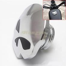Chrome Black Eyes Skull Gas Fuel Tank Cap Harley Sportster Dyna Softail FXD FL XL FLT - Guangzhou HongYe Trading Co.,Ltd store