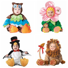 Baby Clothes owl,lion,penguin,flower Rompers Boys Jumpsuits One-pieces Animal Cosplay Shapes Costume Children Clothing spring(China (Mainland))