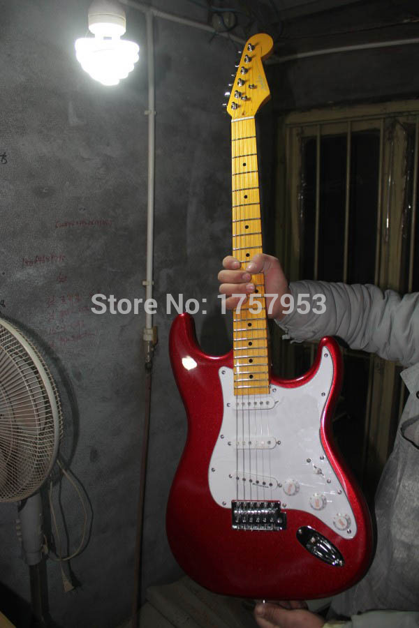 Factory custom shop 2015 Newest Custom Candy Apple Red ST electric guitar Free shipping (HAI 4 stratocaster(China (Mainland))