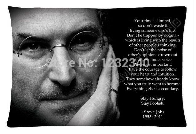 Cool Pillowcase Steve Jobs Your time is limited Style Pillow Case (Twin Sides)(20x30 Inch)(China (Mainland))
