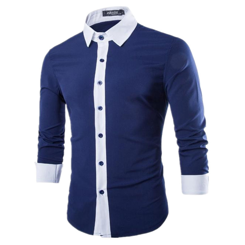 High Quality Brand Men Clothes Striped Long Sleeve Slim