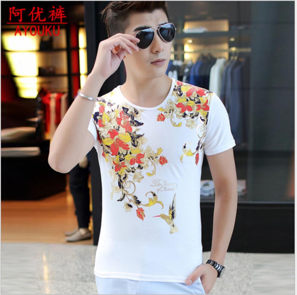 2015 new fashion free shipping t shirt men sport short for White t shirt printing