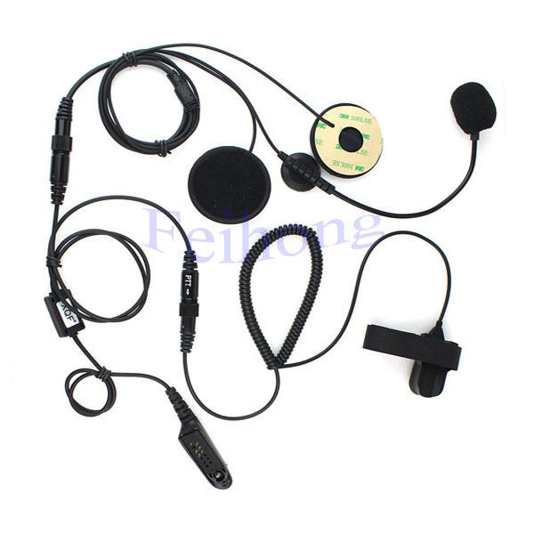 Professional Motorcycle Helmet Headset Earpiece for MOTOROLA GP328 GP338 GP340 GP380 two way radio walkie talkie(China (Mainland))