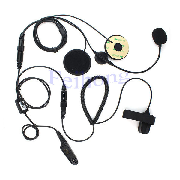 Professional Motorcycle Helmet Headset Earpiece for MOTOROLA GP328 GP338 GP340 GP380 two way radio walkie talkie(China (Mainland))