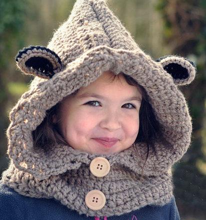 Aliexpress Com Buy Baby Crochet Bear Cowl Handmade