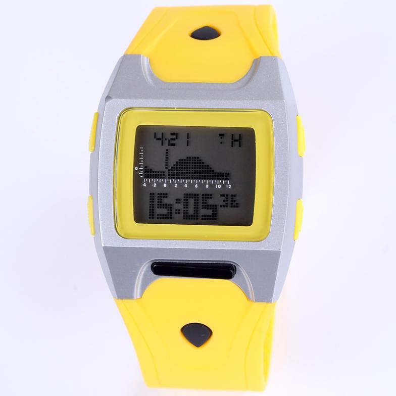New brand square design LCD digital watch waterproof shock resistant multifunctional alarm stopwatch silicone band women watches(China (Mainland))