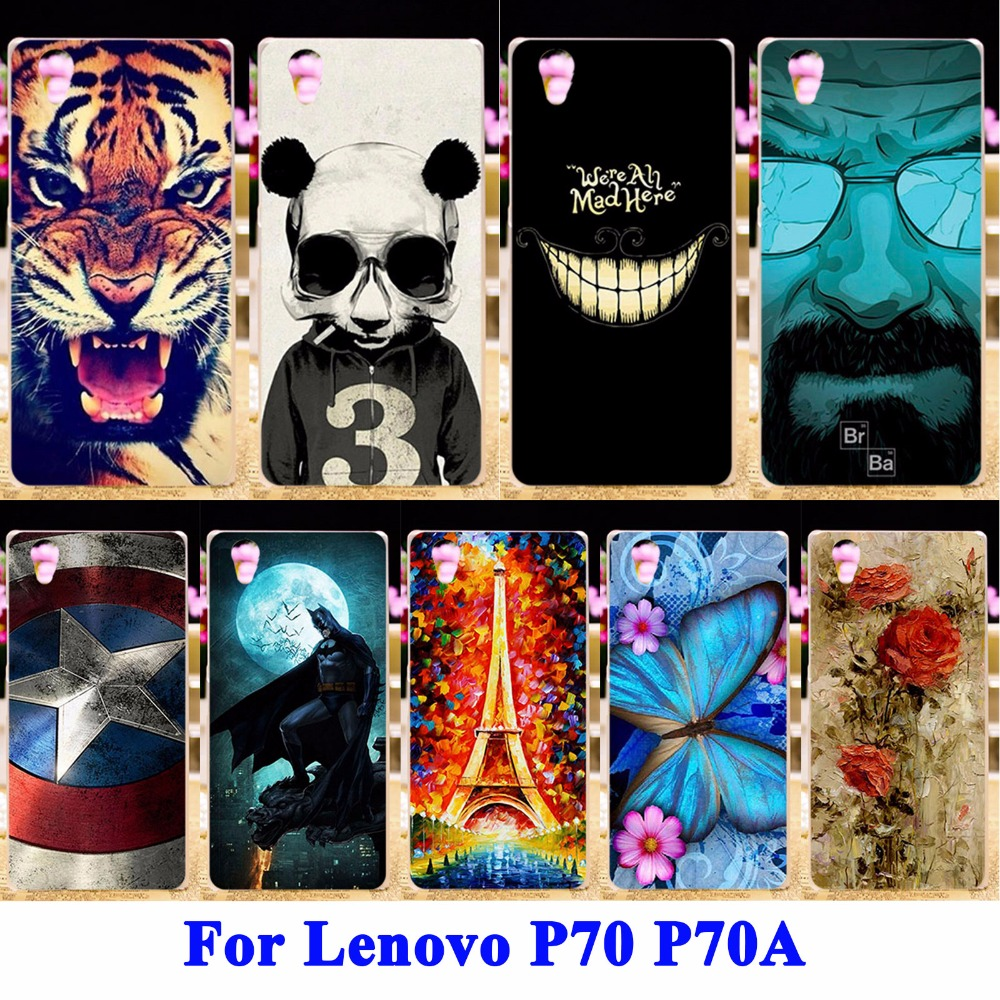 Soft TPU & Hard PC Cell Phone Protector Shell Case Lenovo P70 Shell P70A P70-A P70T P 70 Housing Covers Skin Phone Cases Bag