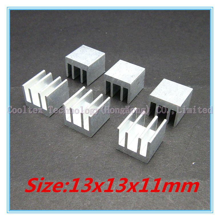 (500pcs/lot) 13x13x11mm Aluminum heatsink Extruded radiator for  IC chip RAM